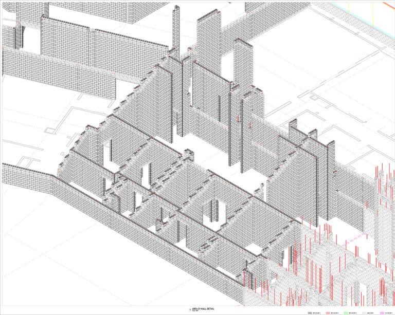 3D Masonry Modeling - Fiserv Forum